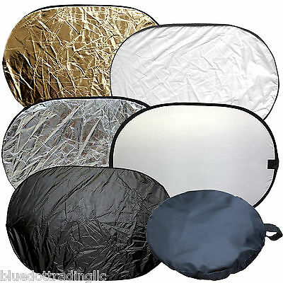 """60x90cm 24""""x36"""" 5in1 Photography Studio Multi Photo Collapsible Light Reflector"""