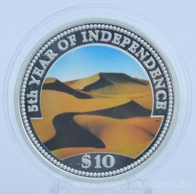 Namibia 10 Dollars 1995 5 Years of Independence Silver