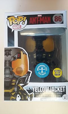 marvel,funko,pop,ant-man,YELLOWJACKET,glow in the dark,neuf,exclusive,gitd