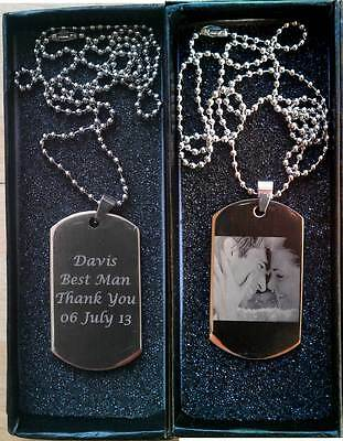Personalised Engraved Photo/Text Army Dog Tags Birthday Wedding Gift ID Dog tag