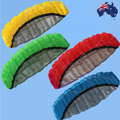 2.5m Large Dual Line Parafoil Sport Outdoor Parachute Kite Line Included OKITE36