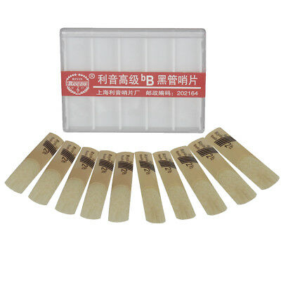 Professional Pack of 10pcs bB Clarinet Reeds Reed Size 2.5 Strength 2 1/2