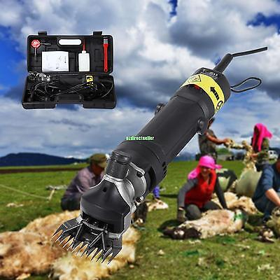 Super Quiet 320W Heavy Duty Portable Sheep Clipper Shearing Wool Shears 2400 RPM