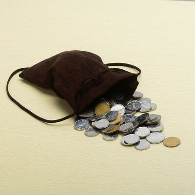 Brown Medieval/Larp/Reenactment Money Pouch Drawstring Purse Coin Wallet/Bag