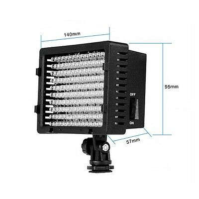 160 LED Camcorder Video Lamp Light Supplement for Nikon with 3 Color Filter