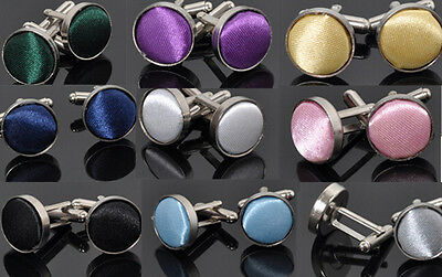 H UAC Vintage Stainless Steel Mens Wedding Party Gift Shirt Cuff Links Cufflinks