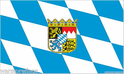 BAVARIA FLAG WITH CREST german Oktoberfest CHOOSE YOUR SIZE flags