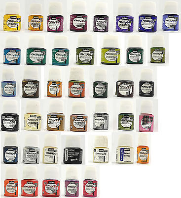 Pebeo Porcelaine paints - 45ml pots - Lots to choose from. Buy 3 get 1 Free -