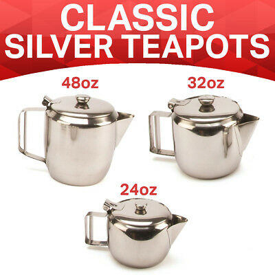 Catering Stainless Steel Teapot Infuser Herbal Leaf Cup English Tea 2-12 CUP UK