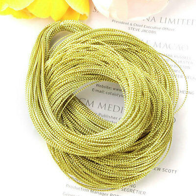 100 yards 1mm Gold Metallic Thread String Cord DIY Jewelry Beading Craft