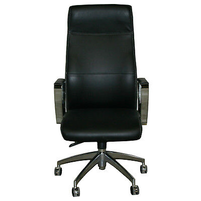 Office Chair Executive Faux lether Leather Optic black Desk in H