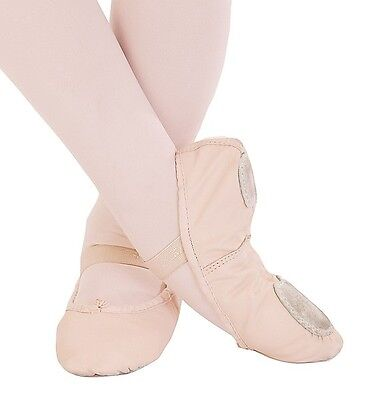 New Pink Capezio Ballet Dance Slipper 205S Split Sole Leather Child  to Adult