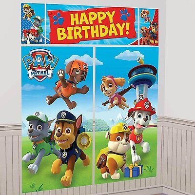 PAW PATROL SCENE SETTER Wall Decoration Happy Birthday Party Backdrop Nick Jr