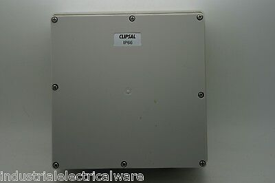 Clipsal 4 Gang Mounting Enclosure or Junction Box with Lid Grey 56JB4