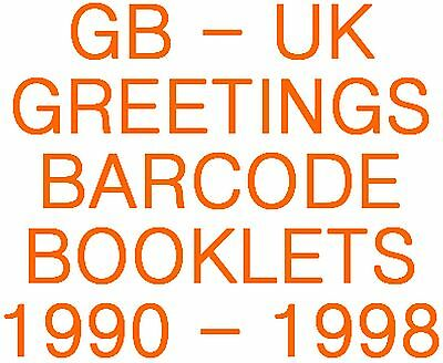 GB-UK 1990 - 1998 Greetings Barcode Booklets