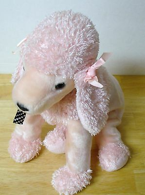 """Pink Poodle Dog Ty Beanie Buddies 2001 12"""" tall"""