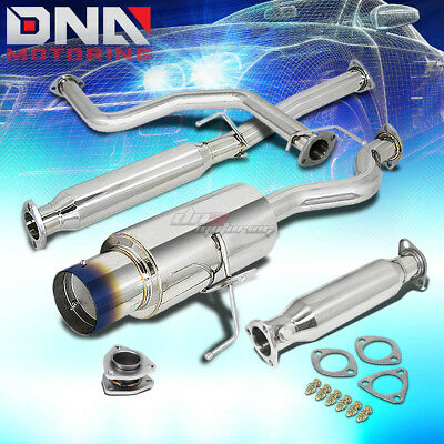 """FOR 92-95 CIVIC 3DR HB EH 4.5/""""TIP PERFORMANCE CATBACK+HIGH FLOW EXHAUST PIPE KIT"""
