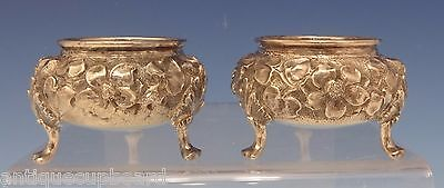 """Repousse by Ritter & Sullivan Sterling Silver Salt Dip Pair 1 1/2"""" (#0547)"""