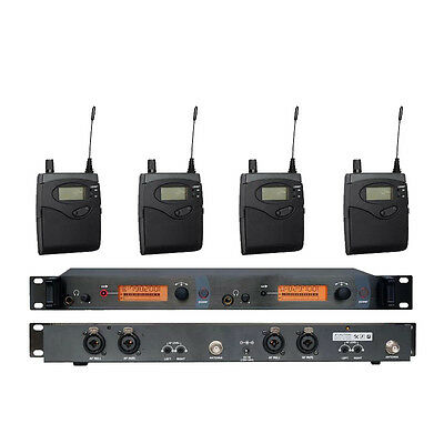 In Ear Professional Stage Wireless Monitor System w/ 4 Transmitter 150M