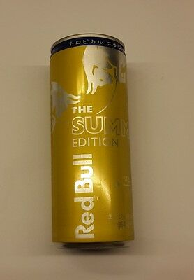 RED BULL can JAPAN Tall 250ml Promo 2015 Summer Edition TROPICAL Rare Asia