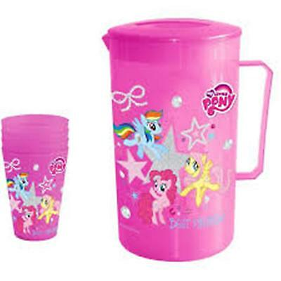 HASBRO - MY LITTLE PONY - BPA Free Jug with Lid + 4 Tumblers Set - Party Picnic