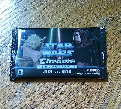 2015 Star Wars Chrome Perspectives Jedi Vs. Sith Factory Sealed HOT Pack frm Box
