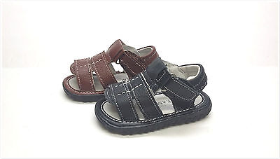 Brand New Genuine Leather Infant/Toddler Boy's Sandals Open Toe Size 2 - 9