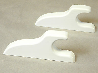 Quilt Hangers(2),Quilt Rod Hangers, White, Crafts, Quilting, Sewing, Wallhanging