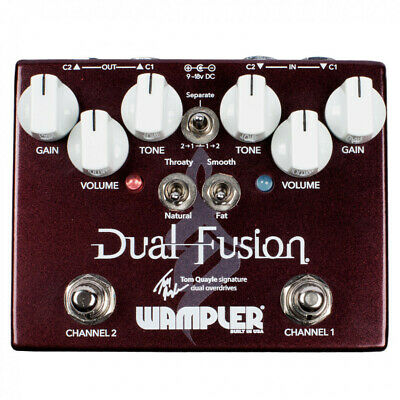 Wampler Tom Quayle Signature Dual Fusion Overdrive Guitar Effects Pedal