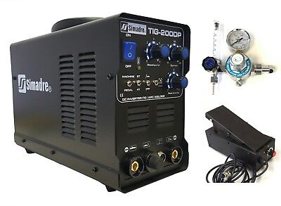 Tig Mma Pulse Simadre Tig200P 110/220V 200A Dc Welding Machine Ft Pedal Argon Re