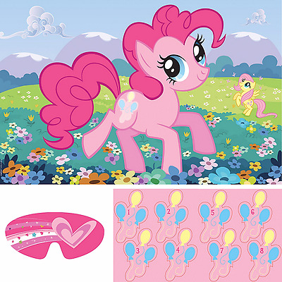 My Little Pony Friendship Wall Poster Party Game Girls Birthday Party Supplies
