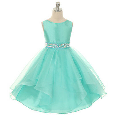 MINT Flower Girl Dresses Birthday Wedding Formal Prom Pageant Party Bridesmaid