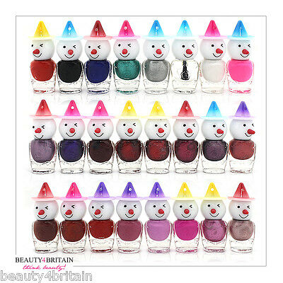 24 x Snowman Nail Polish For Artificial Nails 24 Different Colours