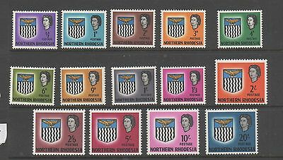Northern Rhodesia 1963 definitives SG75-88 lightly mounted mint set stamps