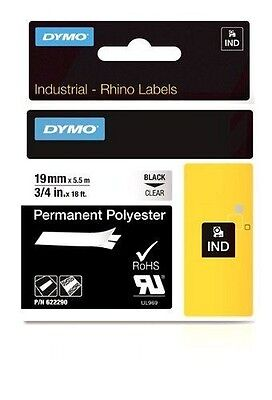 DYMO 19mm RHINO Permanent polyester NUOVO
