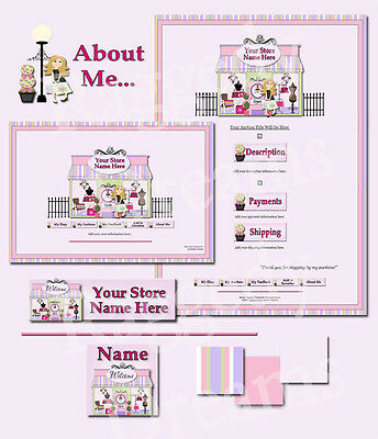 Pink Shabby Boutique Shop Complete EBAY STORE DESIGN