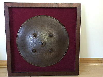 VERY RARE,OLD Antique Persian Engraved Sun War Shield