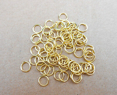 Wholesale 3-4-5-6-7-8-9MM Making Jewelry Findings Gold Plate Opening Jump Rings