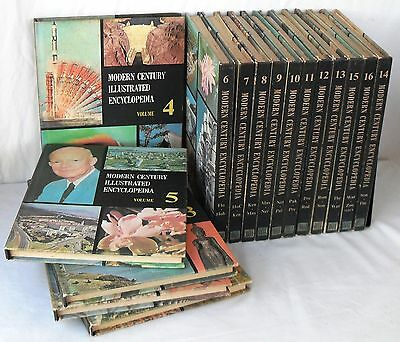 Modern Century Illustrated Encyclopedia 1972 Hardcover Illustrated 16 Set Books
