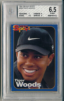2001 Bravo Sport #269 Tiger Woods Rookie (RC) BGS 6.5 EXTREMELY RARE (B&BEnt)