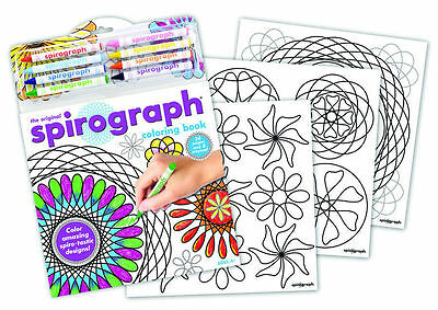 Spirograph Colouring Book with 8 Crayons