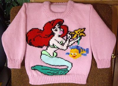 Ariel And Flounder  ..New Size 5  Hand Knitted