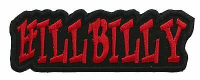 HILLBILLY biker embroidered PATCH (RED)