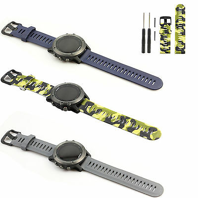 Silicone Rubber Watch Band Strap With Tool for Garmin Fenix 3 GPS Sport Watch IP