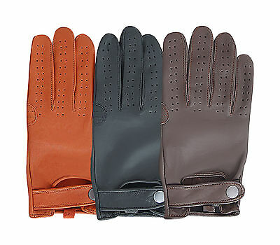 Men's Slim Fit Classic Fashion Chauffeur Genuine Leather Mens Driving Gloves
