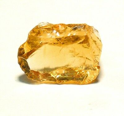 Beautiful, Orangy Apricot Citrine Gem Facet Rough 17f