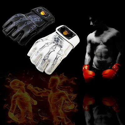 MMA UFC Sparring Grappling Fight Boxing Punch Ultimate Mitts Leather Gloves SN