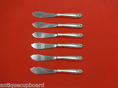 King Christian by Wallace Sterling Silver Trout Knife Set 6pc HHWS  Custom Made