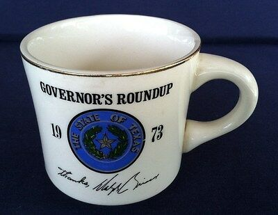 Vintage 1973 Boy Scouts of America Coffee Mug Governor's Roundup Made in USA