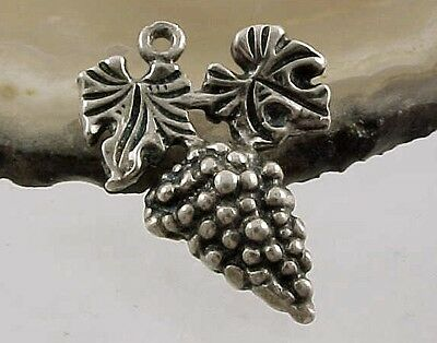 Vintage Sterling Silver BUNCH OF GRAPES Charm